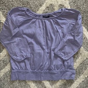 GAP Girls Long Sleeved Shirred Top in Freesia